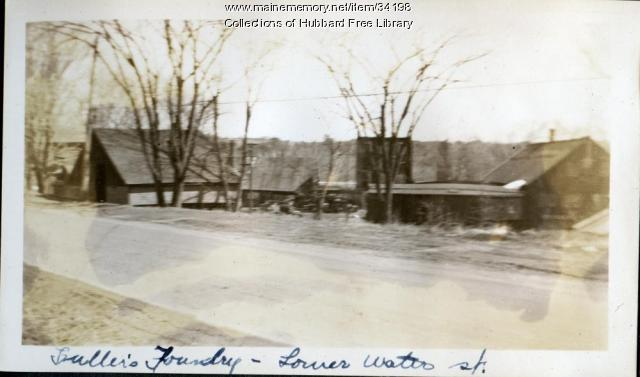 Fuller Foundry, Milliken's Crossing, Hallowell, ca. 1933