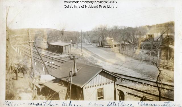 Milliken's Crossing, Looking north on Water Street, Hallowell, ca. 1933