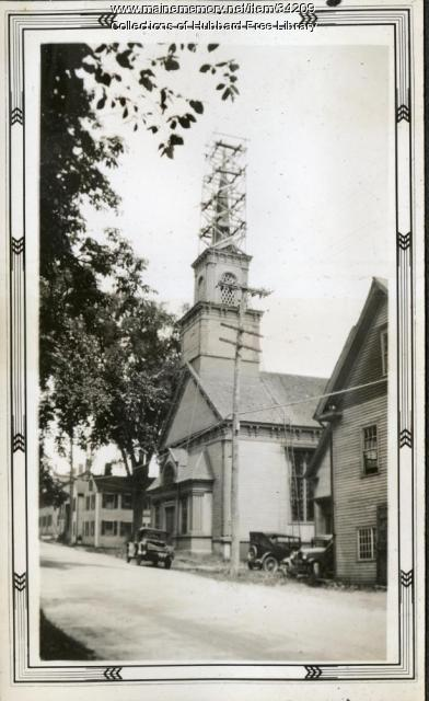 Universalist Church, Second Street, Hallowell, ca. 1934