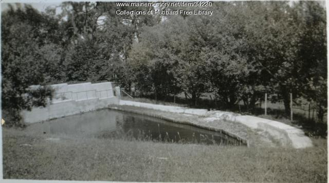 Vaughan Farm, Duck Pond, Hallowell, ca. 1933