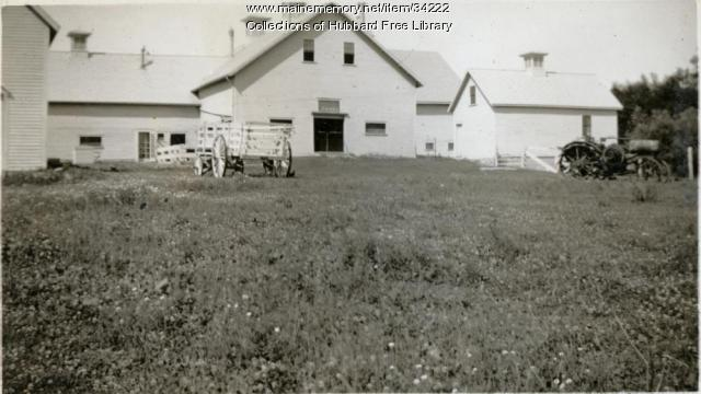 Vaughan Farm, Cow barn, Hallowell, ca. 1933