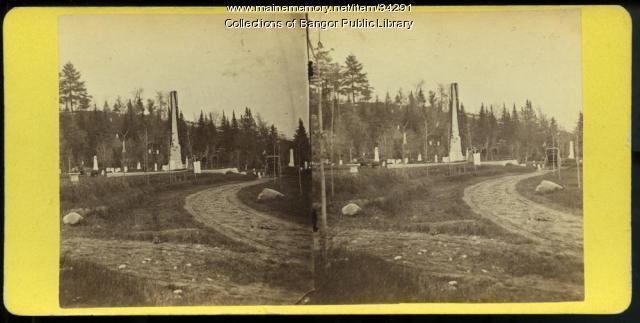 Civil War Memorial, Bangor, ca. 1875