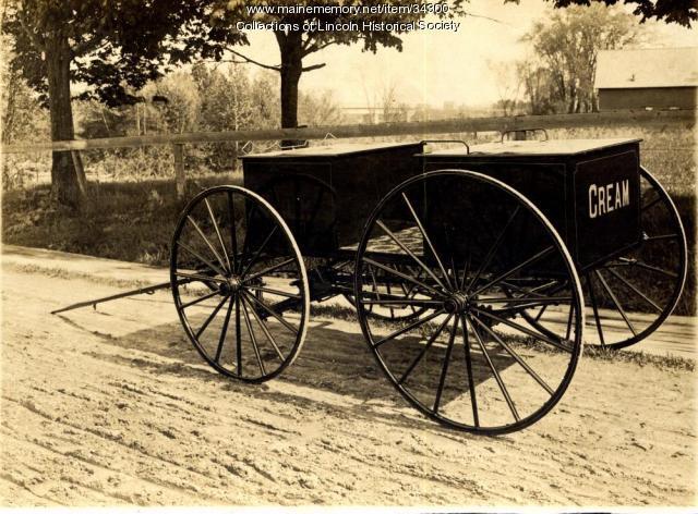 Roy Flanders' milk wagon, Lincoln, ca. 1910