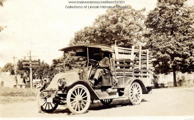 Ardie Flanders creamery truck, Lincoln, ca. 1928