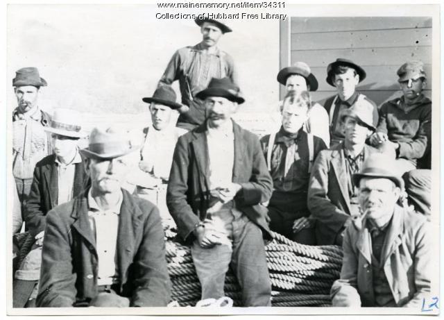 Hallowell Boom and Steam Co., Log Drivers, Hallowell, ca. 1890