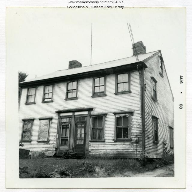Dummer House, Dummer's Lane, Hallowell, 1968