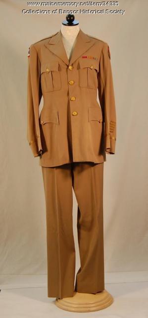 Major Pozzy's uniform, Bangor, ca. 1945