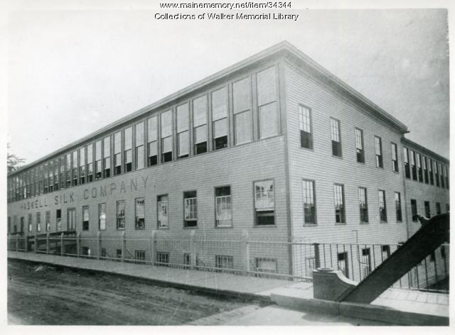 Haskell Silk Mill, Westbrook, 1889