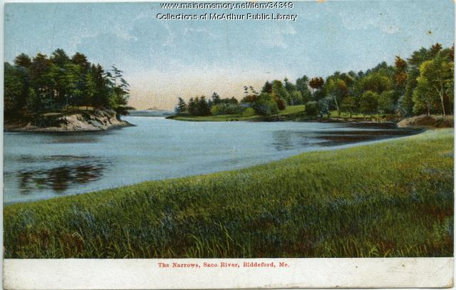Saco River narrows, Biddeford, ca. 1915