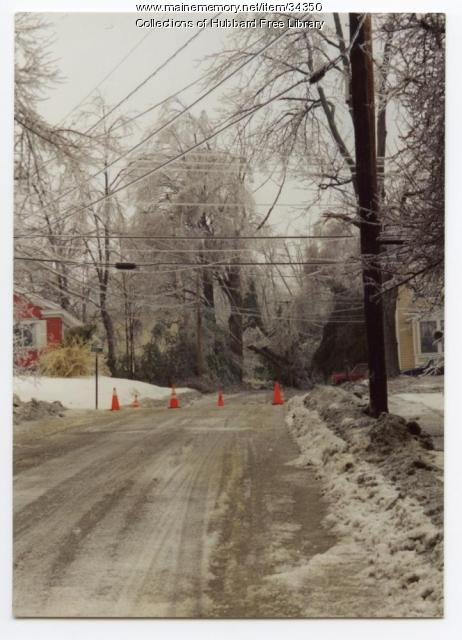 Ice Storm, Academy and Middle streets, Hallowell, 1998