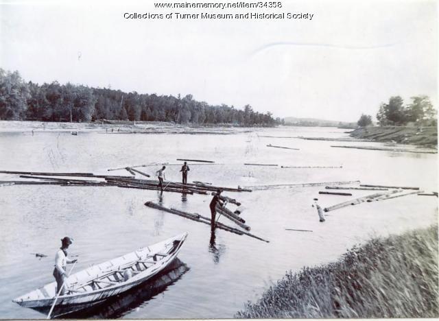 Log Drive, Androscoggin River, Turner, ca. 1890