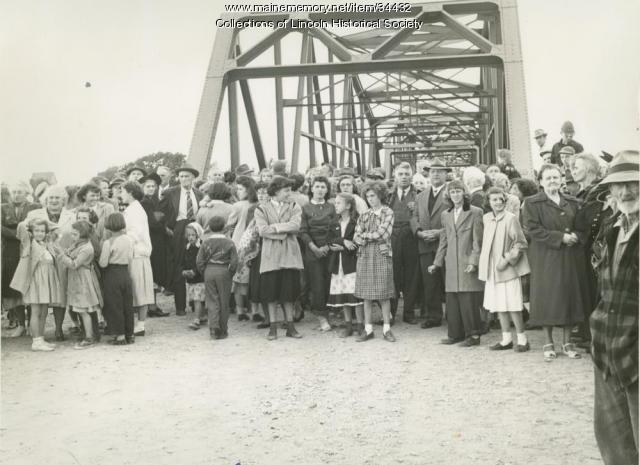Lincoln-Chester bridge opening, 1950