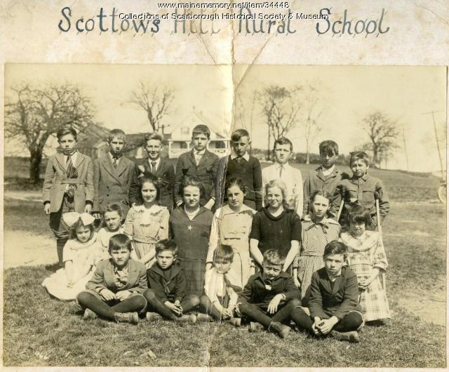 Scottow's Hill Rural School, Scarborough, ca. 1920