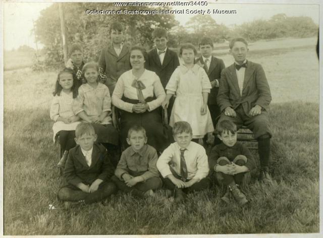 Scottow's Hill One Room School Students, ca. 1920