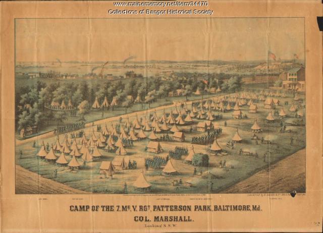 7th Maine Regiment encampment, Baltimore, 1861