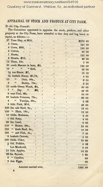 Annual Reprot, Hallowell, March 1879