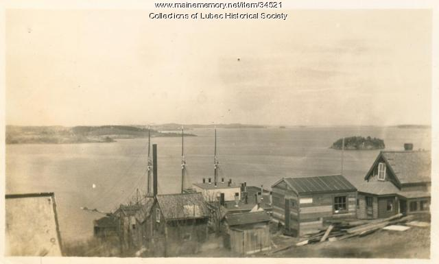 American Can plant and Johnson Bay, Lubec, ca. 1930