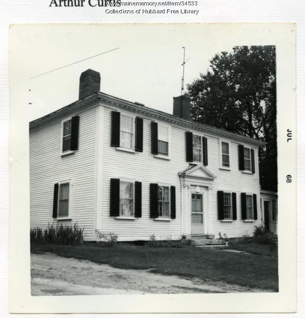 Captian Benjamin Gould House, Winthrop Street, Hallowell, 1968