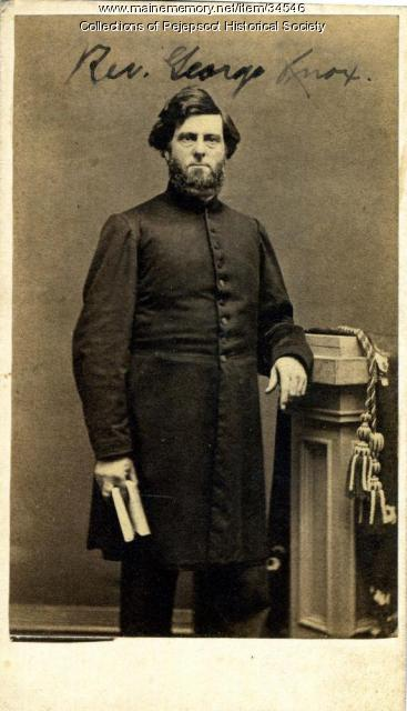 Rev. George Knox, Brunswick, ca. 1860