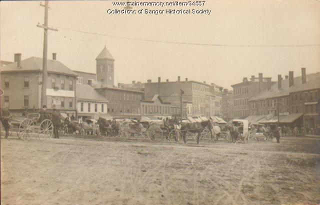 Haymarket Square, Bangor, ca. 1890