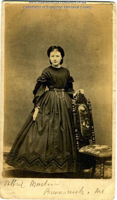 Abbie Martin, Brunswick, ca. 1868