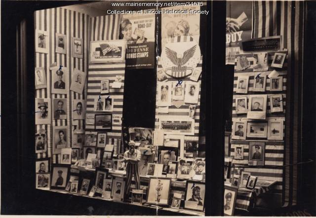 Weatherbee Hardware Store window display, Lincoln, ca. 1943