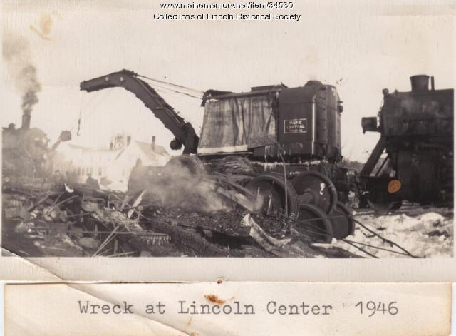 Train Collision in Lincoln Center, 1946