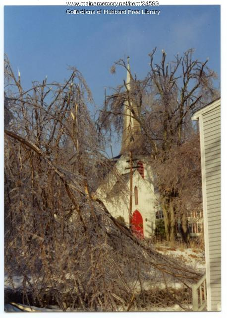 St. Matthews Episcopal Church in ice, Hallowell, 1998
