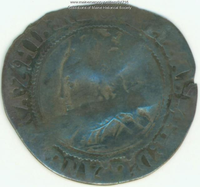 Shilling coin, Richmond Island, ca. 1583