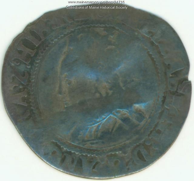 Shilling coin, Richmond Island, ca. 1583