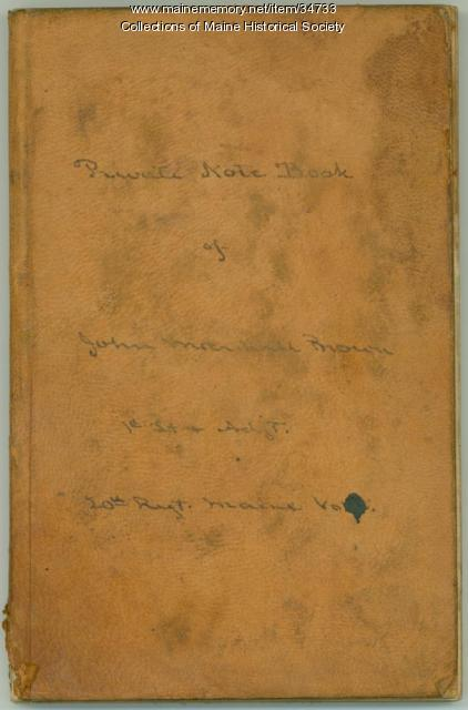 John Marshall Brown private notebook, 1862-1863