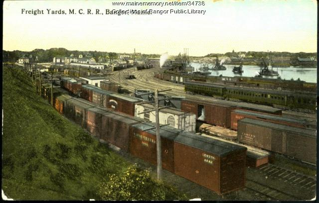 M.C.R.R. Freight Yards, Bangor, ca. 1905