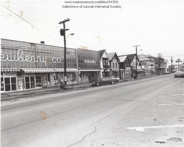 Newberry's & Osgood's stores, Main Street, ca. 1950
