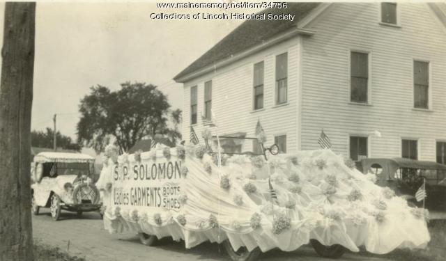 S.P. Solomon's Store Float, Lincoln, 1928