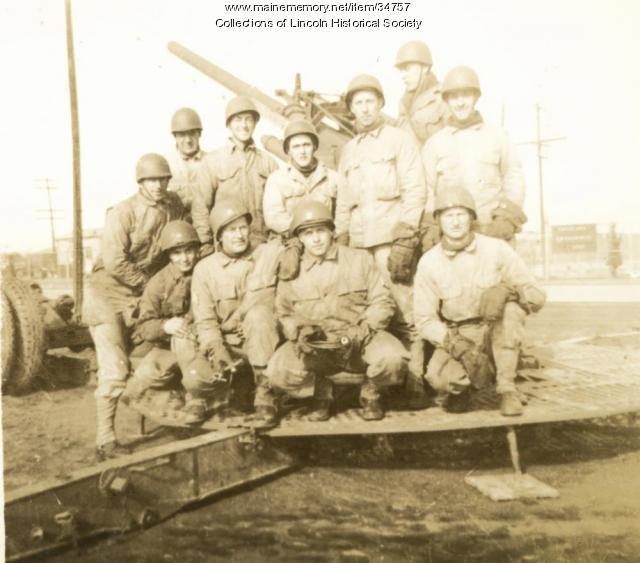Paul Fleming and gun crew, WW II, 1945