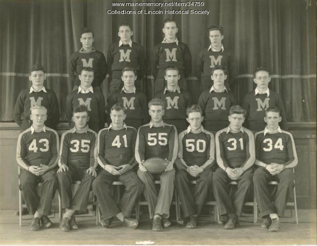 Mattanawcook Academy Football Team, Lincoln, 1938