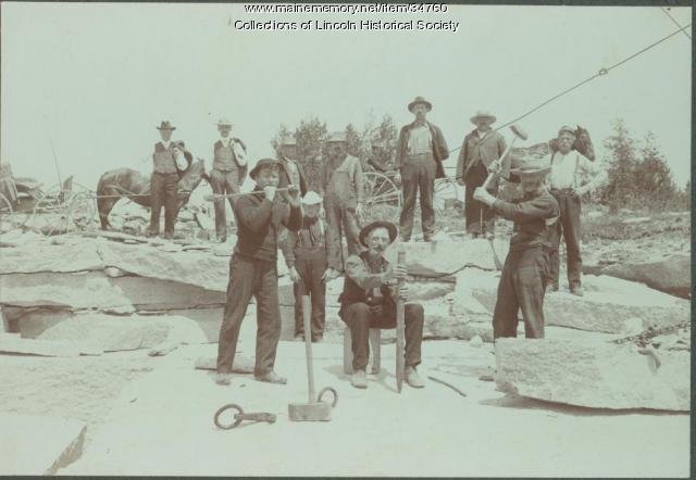 E.A. Hurd Granite Quarry, Lincoln, ca. 1890