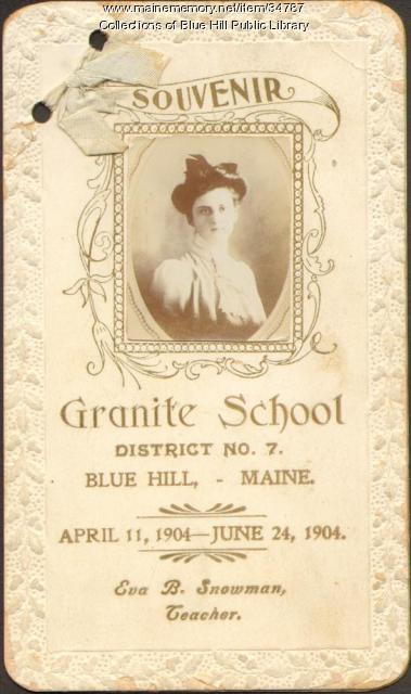 Granite School Souvenir, Blue Hill, 1904