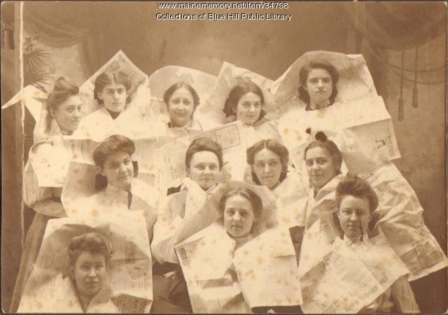 George Stevens Academy Glee Club, Blue Hill, 1906