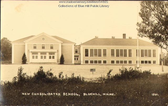 Blue Hill Consolidated School, Blue Hill, 1939