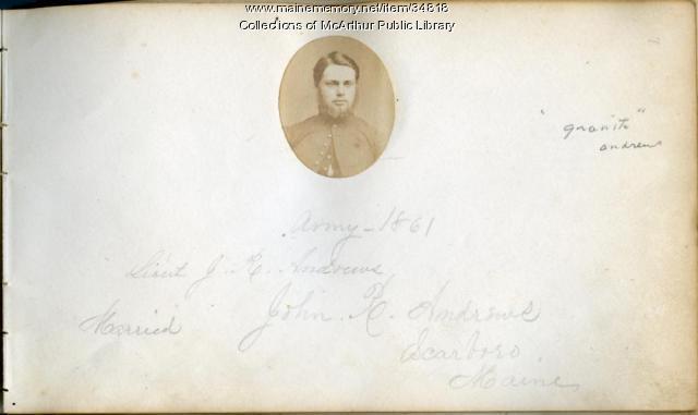 Lt. John R. Andrews, Biddeford, ca. 1861