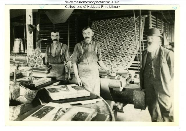 Wilder Oilcloth Factory, Hallowell, ca. 1895
