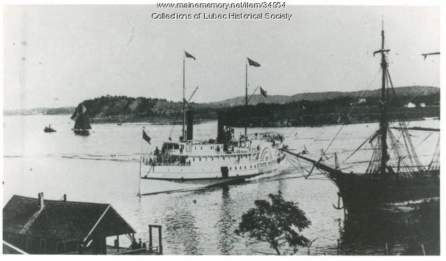 State of Maine steamship, Lubec, ca. 1900