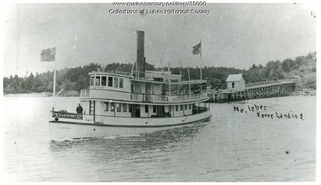 Ferry and landing, North Lubec, ca. 1900
