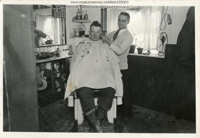Hair cut, Turner, ca. 1926