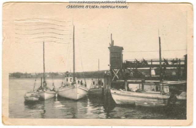 Sardine boats, Lubec, ca. 1940