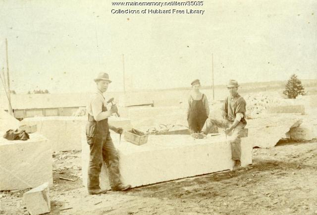 Granite Workers, Hallowell Granite Works, Hallowell, ca. 1920