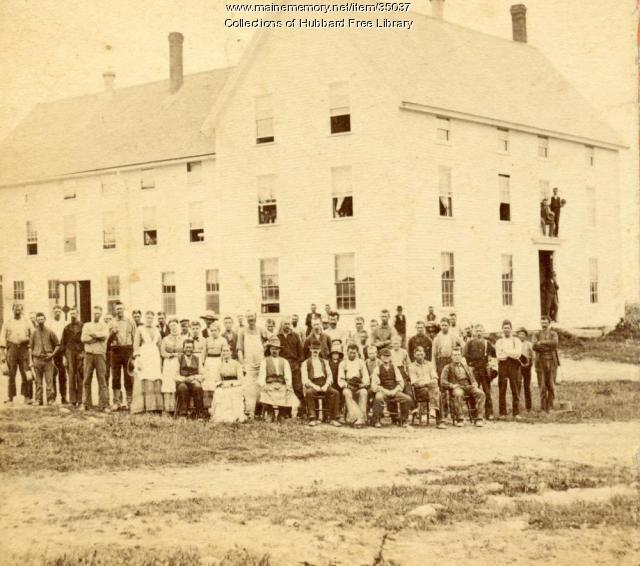 Granite Workers, Hallowell Granite Works, Hallowell, ca. 1880