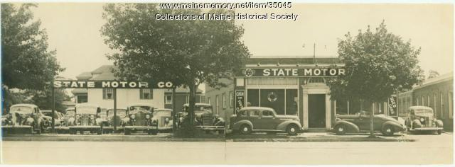 State Motor Co. vehicles, Portland, ca. 1938