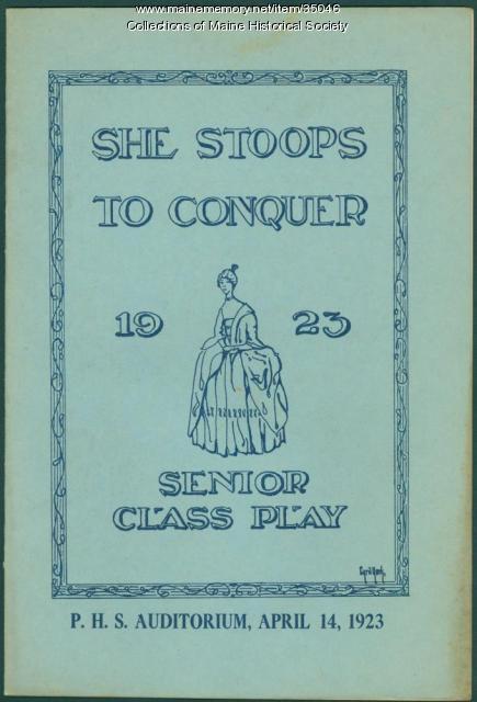Senior Class Play program, Portland High School, 1923